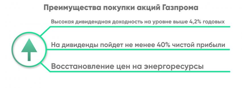 Преимущества покупки акций «Газпрома» (GAZP)